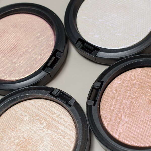 MAC Extra Dimension Skinfinish Highlighter Double-Gleam - Beaming Blush - Soft Frost - Show Gold Detail