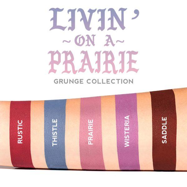 LIME CRIME Metallic Velvetines Liquid Lipstick Swatches Livin on a Prairie