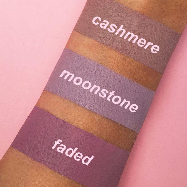 LIME CRIME Metallic Velvetines Liquid Lipstick Swatches Moonstone Faded Cashmere