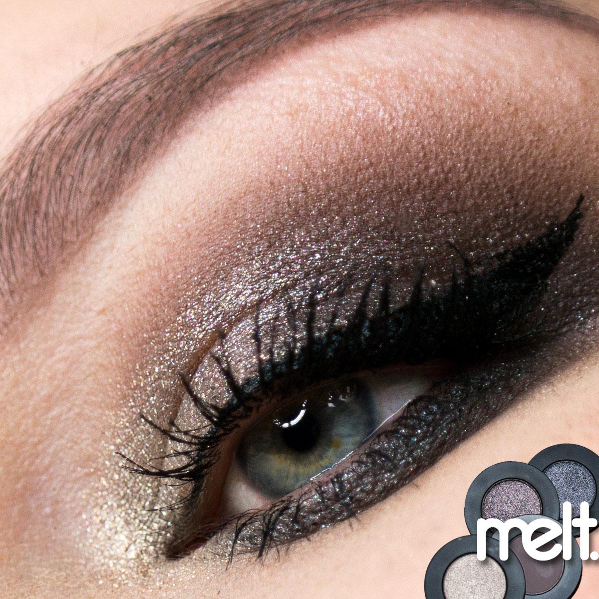 MELT Gun Metal Stack Eyeshadow Makeup Look Lidschatten