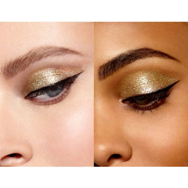 STILA Magnificent Metals Glitter Glow Liquid Eye Shadow Gold Goddess Swatch