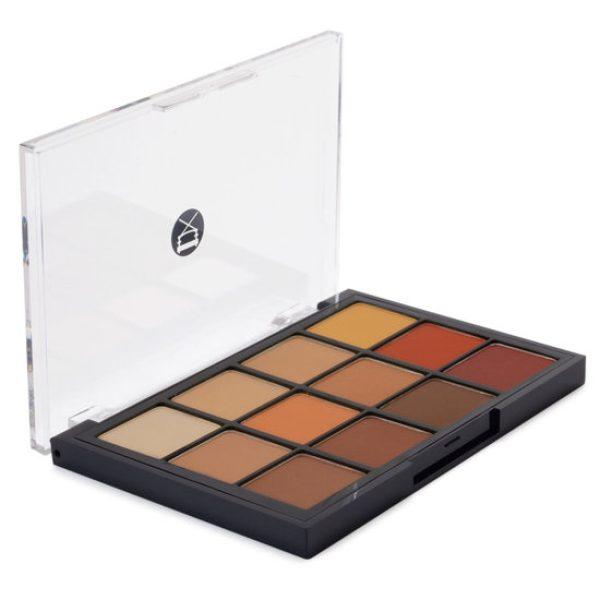 VISEART Warm Neutral Mattes Eyeshadow Palette open