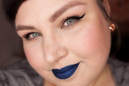 COLORED RAINE Blue Dragon Liquid Lip Paint Lipstick Metallic Blue Lips Makeup-16