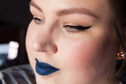 COLORED RAINE Blue Dragon Liquid Lip Paint Lipstick Metallic Blue Lips Makeup 2