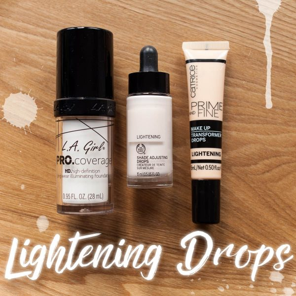 Foundation aufhellen zu dunkles Makeup Catrice The Body Shop LA Girl 2