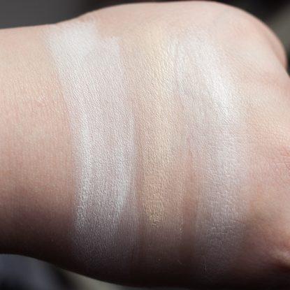 Foundation aufhellen zu dunkles Makeup Catrice The Body Shop LA Girl Swatches weiss 2