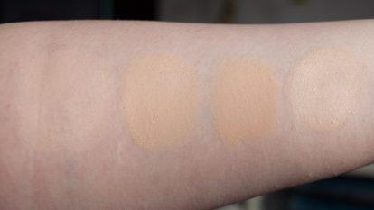 Foundation aufhellen zu dunkles Makeup Catrice The Body Shop LA Girl Swatches weiss 3