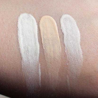 Foundation aufhellen zu dunkles Makeup Catrice The Body Shop LA Girl Swatches weiss