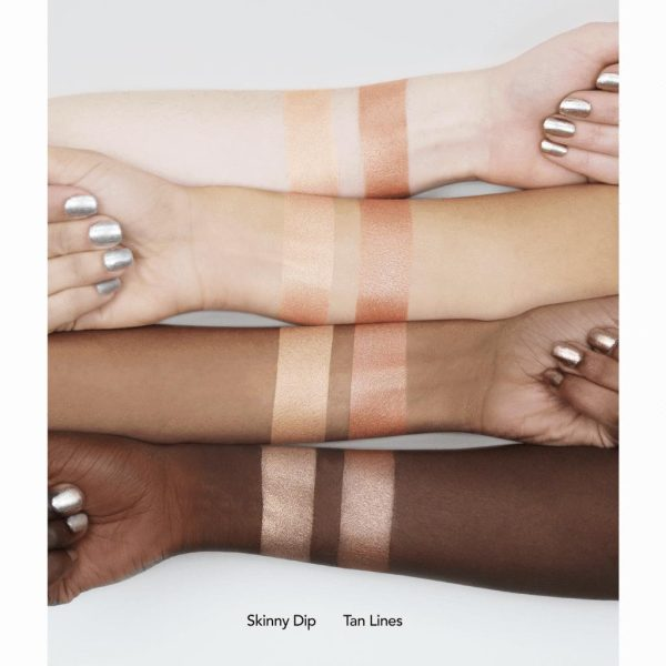 JOUER Powder Highlighter Skinny Dip Tan Lines Swatches