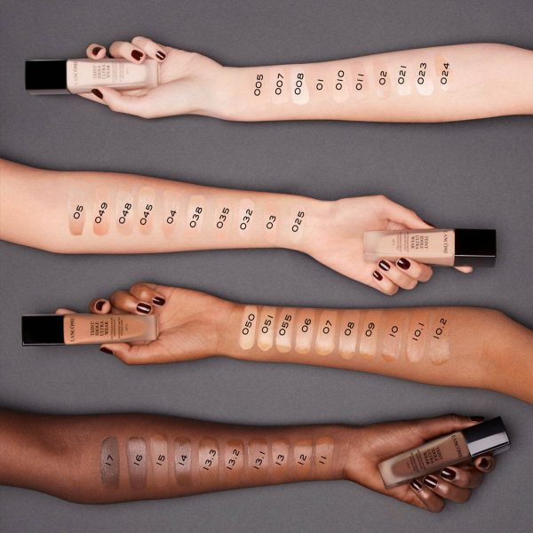LANCOME Teint Idole Ultra Wear Foundation Swatches Farbvergleich
