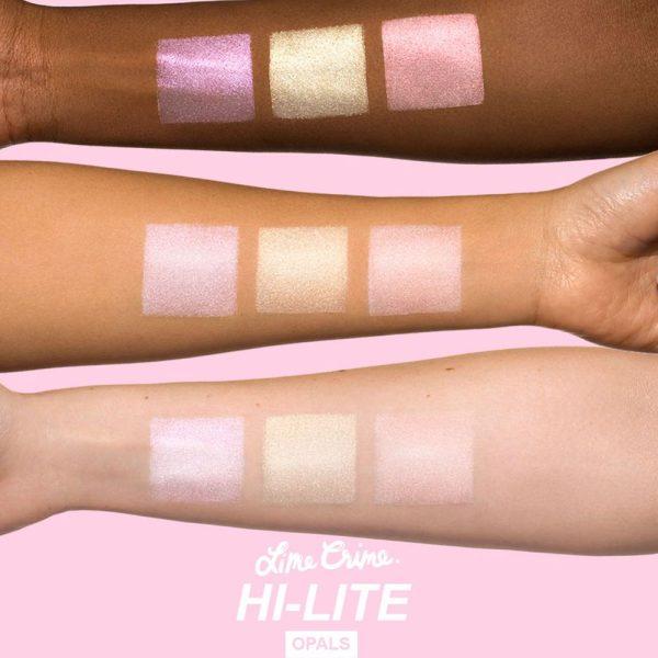 LIME CRIME Hi-Lite Opals Highlighter Palette Swatches