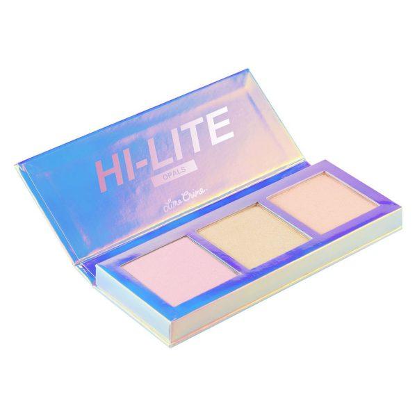 LIME CRIME Hi-Lite Opals Highlighter Palette open
