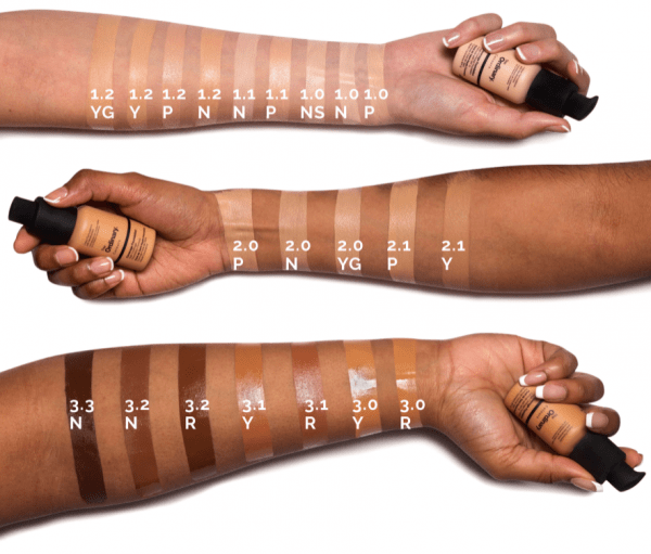 THE ORDINARY Coverage Foundation Swatches Colours Shades Nuancen welche Farbe