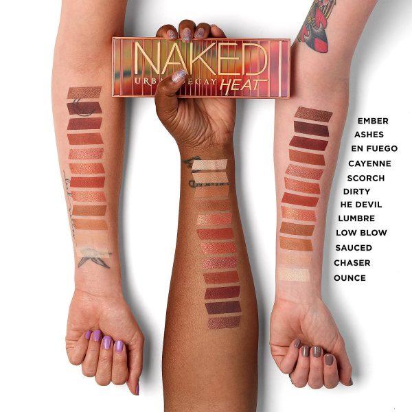 URBAN DECAY Naked Heat Deutschland Swatches Palette