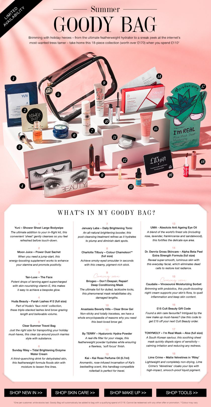 CULT BEAUTY Goody Bag Summer 2017