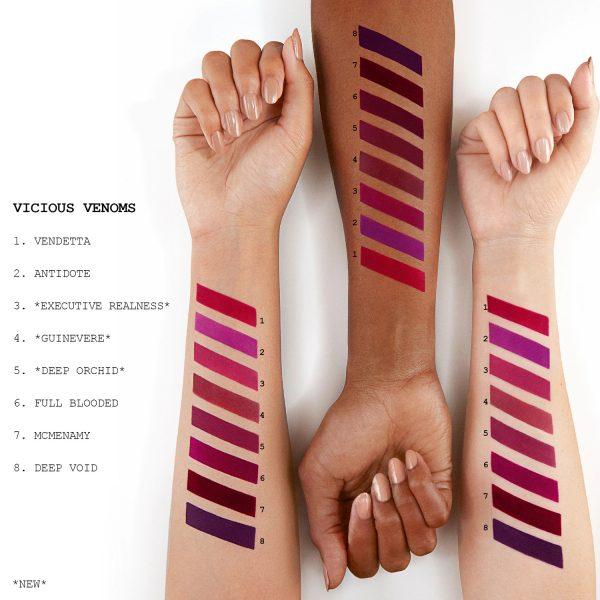 PAT McGRATH LABS MatteTrance Lipstick Swatches Reds Purples