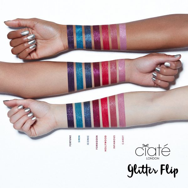 CIATE LONDON Glitter Flip Swatches