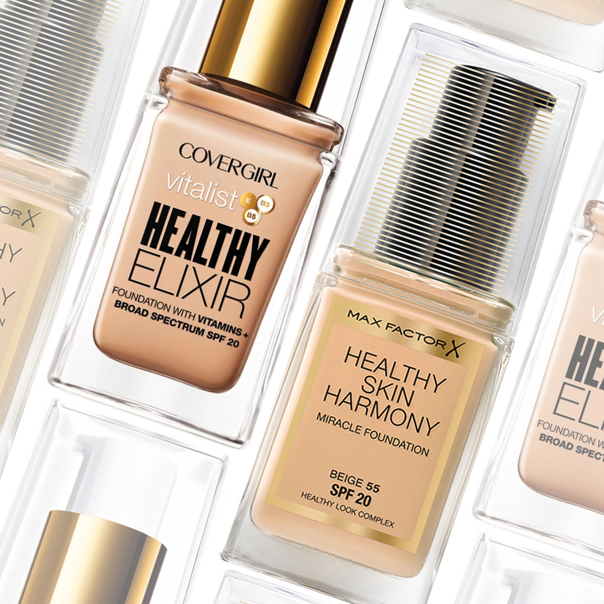 COVERGIRL Healthy Elixir vs MAX FACTOR Vitalist Healthy Elixir Foundation Deutschland