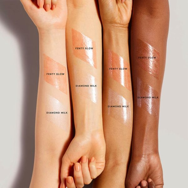 FENTY Gloss Bomb Swatches Fenty Glow Diamond Milk