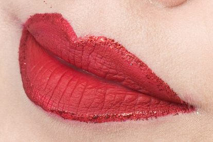 Glitter Lip Liner: LIME CRIME Red Velvet & LIT Fire Cracker #3