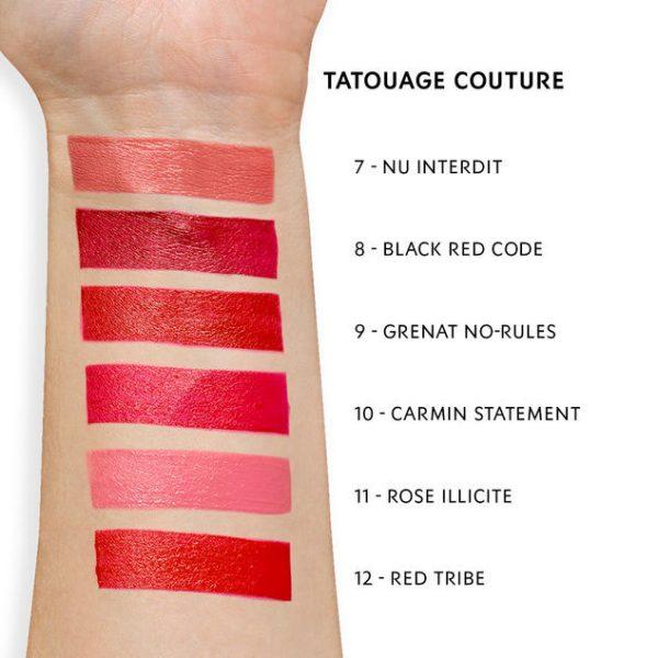 YVES SAINT LAURENT Tatouage Couture Matte Stain Liquid Lipstick Swatches 2