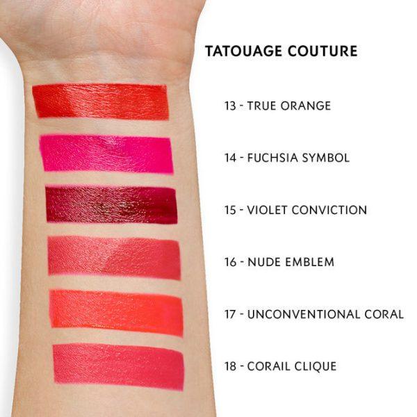 YVES SAINT LAURENT Tatouage Couture Matte Stain Liquid Lipstick Swatches 3