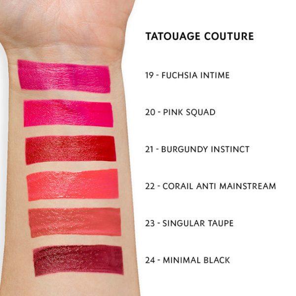 YVES SAINT LAURENT Tatouage Couture Matte Stain Liquid Lipstick Swatches 4