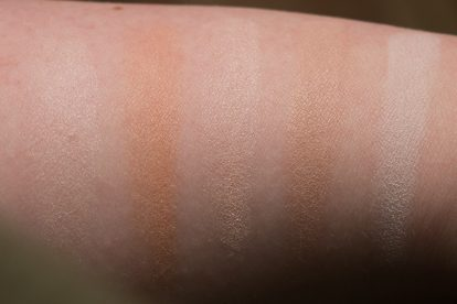 DAYLIGHT: HOURGLASS Ambient Lighting Powder Swatches Reviews Demo Strobe Ethereal Light Swatches