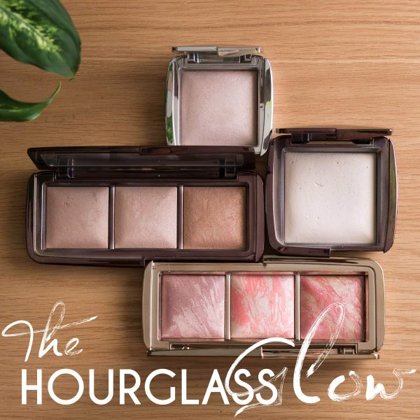HOURGLASS Ambient Lighting Powder Swatches Reviews Demo Strobe Ethereal Light Palette Incandecent Review