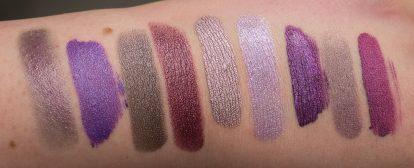 Metallic Purple Lipstick Swatches