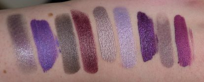Metallic Purple Lipstick Swatches Flash