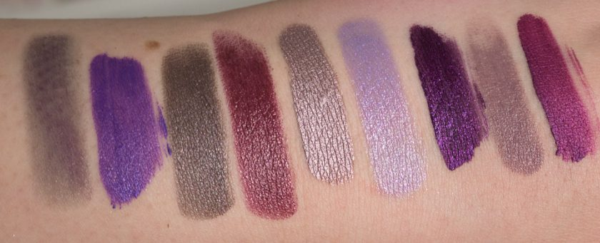 Metallic Purple Lipstick Swatches indirekt