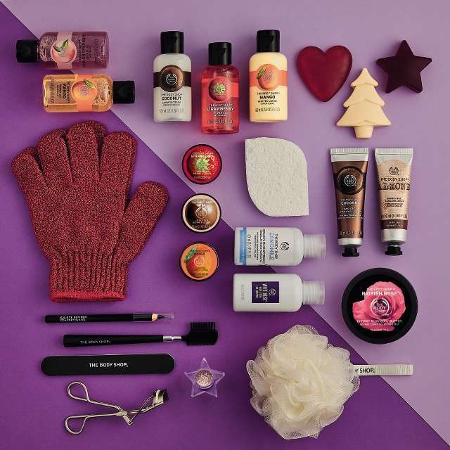 THE BODY SHOP Adventskalender Inhalt
