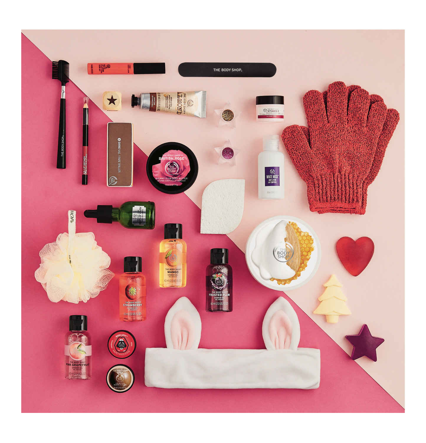 THE BODY SHOP Adventskalender Gift Advent Deluxe Inhalt