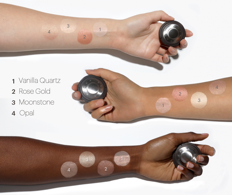 BECCA Shimmering Skin Perfector Pressed Highlighter Mini Swatches