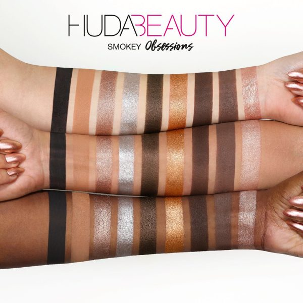 HUDA BEAUTY Smokey Obsessions Palette Swatches