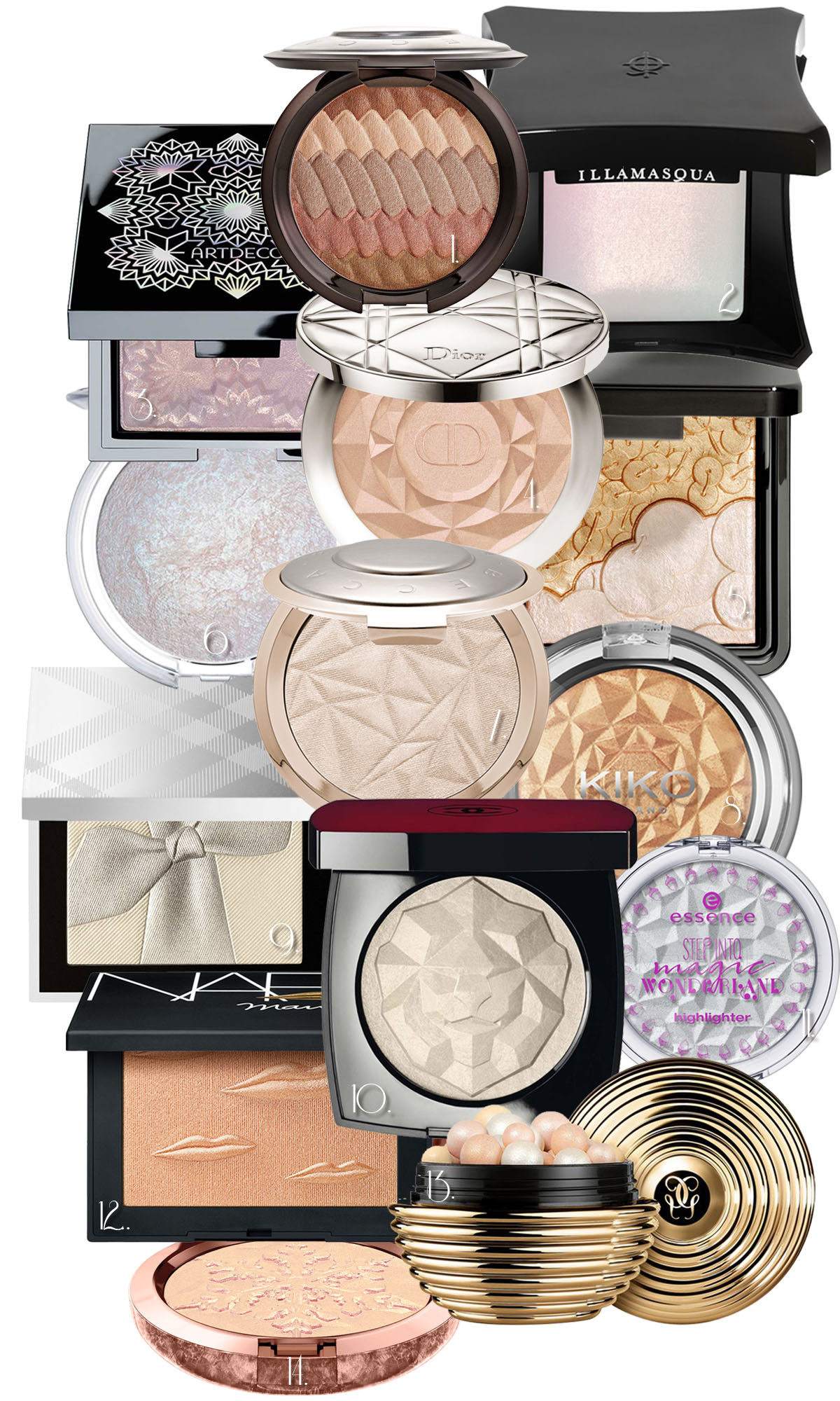 Highlighter Illuminating Powder Glow Puder Holiday 2017 Weihnachten Limited Edition Artdeco Becca Dior essence Chantecaille Illamasqua Guerlain Dior MAC Kiko Chanel NARS Burberry