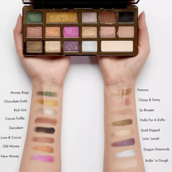 TOO FACED Chocolate Gold Eyeshadow Palette Swatches ASOS