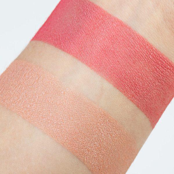 JOUER Flirt Blush Bouquet Swatches Dual Rouge Duo Palette