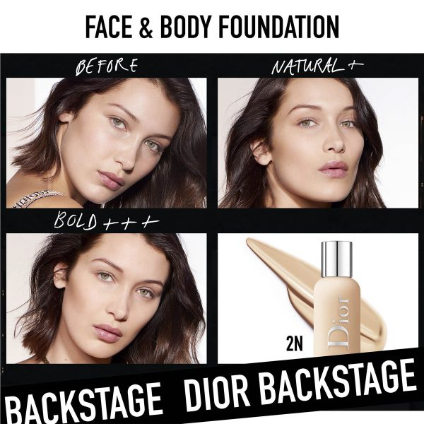 DIOR Backstage Face Body Foundation Before After