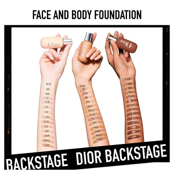 DIOR Backstage Face Body Foundation Swatches Shades