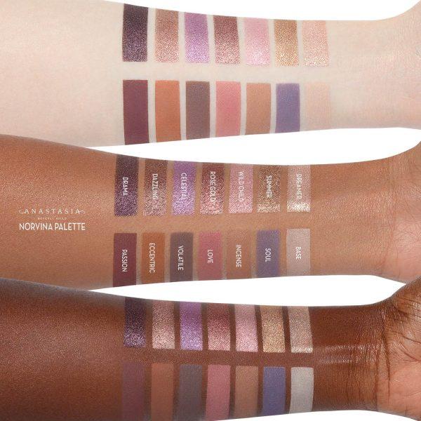 ANASTASIA BEVERLY HILLS Norvina Eye Shadow Palette Swatches Eyeshadow Lidschattenpalette