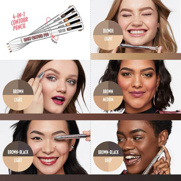 BENEFIT Brow Contour Pro Shades Looks