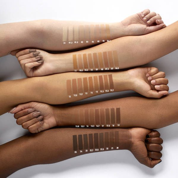 NYX Cant Stop Wont Stop Full Coverage Foundation welche Farbe Nuancen Swatches
