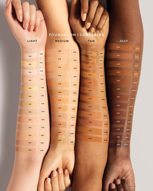 FENTY BEAUTY Pro Filtr Instant Retouch Concealer Foundation Swatches