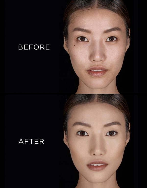 HOURGLASS Vanish Seamless Finish Liquid Foundation before after light