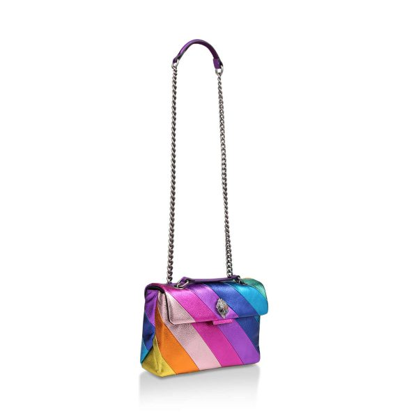 KG by KURT GEIGER Leather Kensington Rainbow Bag Regenbogen Purse Tasche Leder