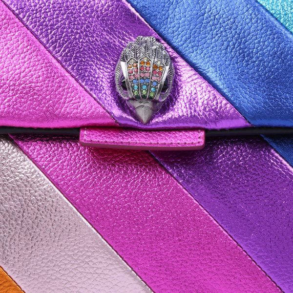 KG by KURT GEIGER Leather Kensington Rainbow Bag Regenbogen Purse Tasche Vogel