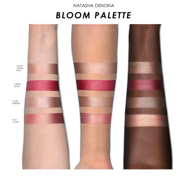NATASHA DENONA Bloom Blush Glow Palette Promo Swatches Skin