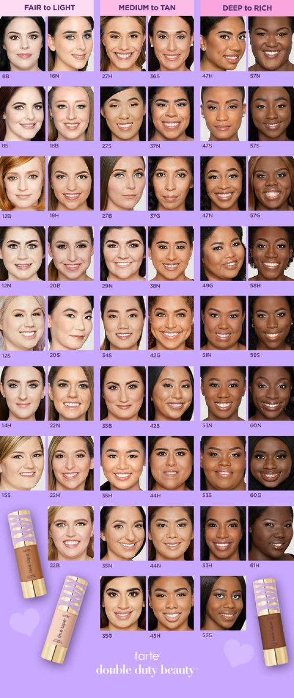 TARTE Face Tape Foundation Shade Recommendations